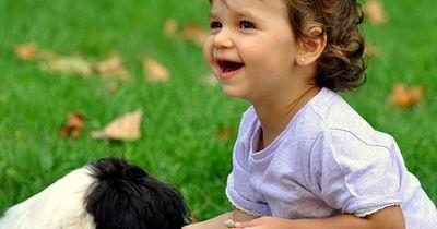Dieser Hund beschützt die Tochter vor der Mutter