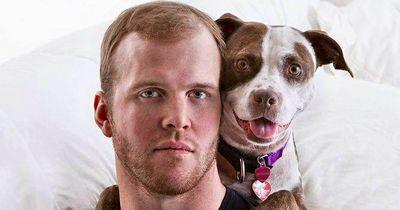 NHL Star Bryan Bickell hat vor neun Jahren diesen Pitbull gerettet ...