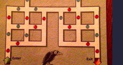 Finde die rot-blaue Route!
