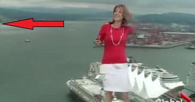 Diese Wettermoderatorin verliert vor laufender Kamera die Fassung
