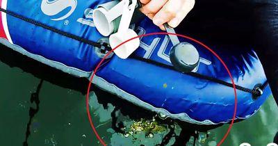 Das passiert, wenn man nur einen Teelöffel Öl in einen See schüttet